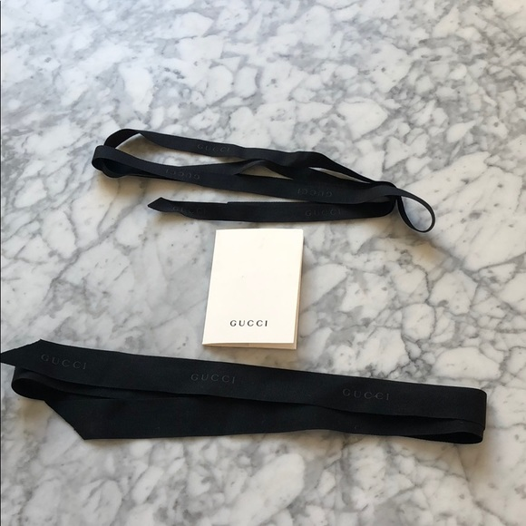 Authentic Gucci ribbon and receipt holder bundle